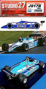 STUDIO 27 1/20 LIGIER JS17 1982 EARLY VERSION F1 CHEEVER LAFFITE