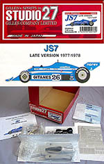 STUDIO 27 1/20 JS7 LATE 1977 EARLY 1978 F1 LAFFITE JARIER