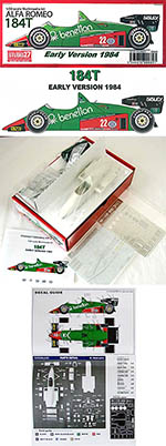 STUDIO 27 1/20 ALFA ROMEO BENETTON 184T EARLY F1 CHEEVER PATRESE