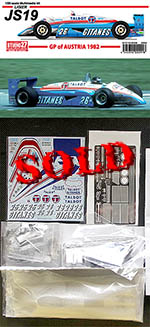 STUDIO 27 1/20 LIGIER JS19 AUSTRIA 1982 VERSION F1 CHEEVER LAFFIT