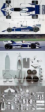 STUDIO 27 1/20 RABHAM BT53 BMW TURBO 1984 PIQUET FABI WINKELHOCK