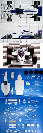 STUDIO 27 1/20 BRABHAM BT58 JUDD V8 JAPAN 1989 BRUNDLE MODENA