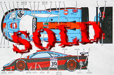 STUDIO 27 1/24 Mclaren F1-GTR Gulf Le Mans / Suzuka 1997