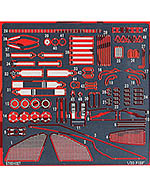 STUDIO 27 1/20 FERRARI F150 PHOTO ETCH DETAIL for FUJIMI