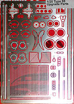 STUDIO 27 1/20 LOTUS 88 PHOTO ETCH DETAIL MANSELL DE ANGELIS