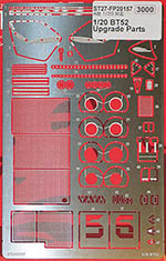 STUDIO 27 1/20 BRABHAM BT52 PHOTO ETCH DETAIL for EBBRO