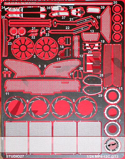 STUDIO 27 1/24 PE DETAIL for 1/24 FUJIMI McLAREN MP4-12C