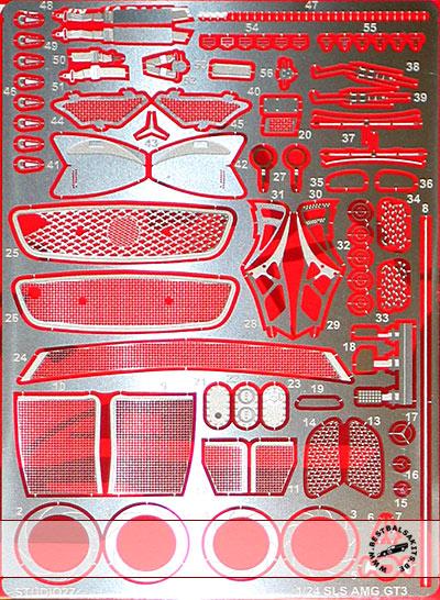 STUDIO 27 1/24 MERCEDES SLS AMG GT3 for FUJIMI 125657