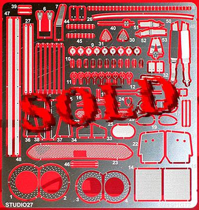 STUDIO 27 1/24 PORSCHE 911 GT2 PHOTO ETCH DETAIL UP