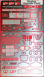 STUDIO 27 1/24 LANCIA STRATOS UPGRADE DETAIL UP SET for HASEGAWA