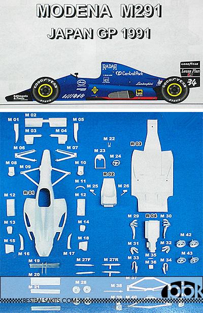 STUDIO 27 1/20 LAMBO LAMBORGHINI MODENA M291 JAPAN GP 1991 LARINI