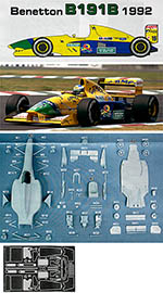 STUDIO 27 1/20 CAMEL BENETTON FORD B191B 1992 SCHUMACHER BRUNDLE