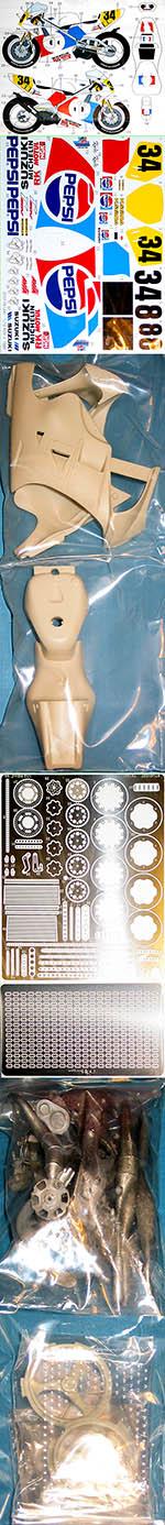 STUDIO 27 1/12 SUZUKI RGV-R XR89 PEPSI 1989 KEVIN SCHWANTZ