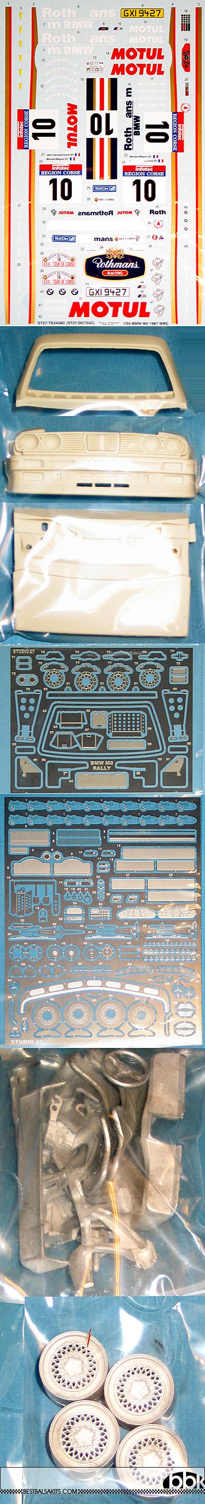 STUDIO 27 1/24 BMW M3 ROTHMANS Gr.A 1987 WRC TOUR DE CORSE