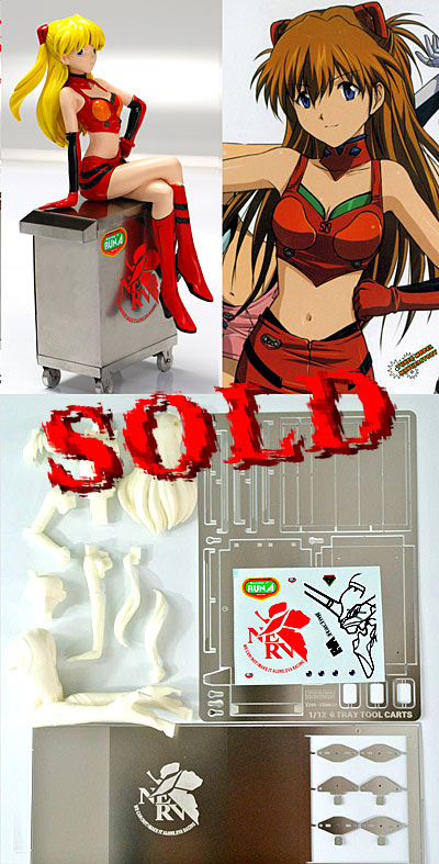 T2M 1/12 ANIME ASUKA FIGURE SEATED, PE & METAL TOOL CABINET
