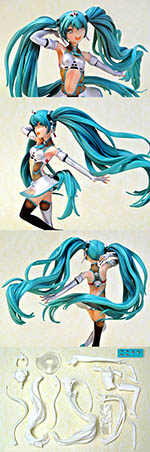 T2M 1/12 ANIME HATSUNE MIKU GIRL for 1/12 PIT RACE DIORAMA