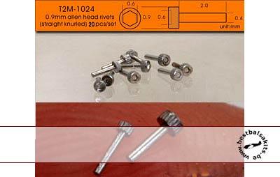 T2M NA 0.9mm ALLEN HEAD ALU 20pc