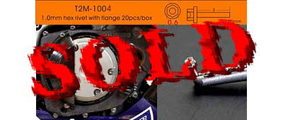 T2M NA 0.6mm Sim Hex Bolt & Hole ALU 20pc