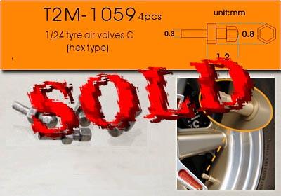 T2M 1/24 1/24 METAL AIR VALVE TYPE C