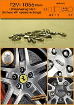 T2M 1/24 1/24 METAL WHEEL LUGS TYPE C