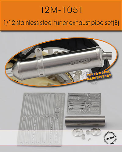 T2M 1/12 1/12 TUNER EXHAUST f TAMIYA 1/12 BIKE YZR-M1 RC211