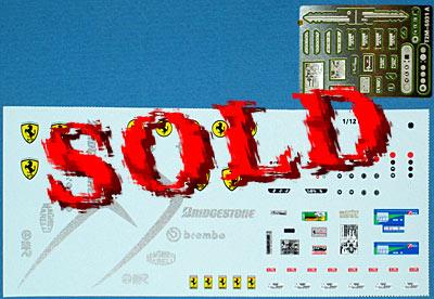T2M 1/12 1/12 INTERIOR & ENGINE PE & DECAL TAMIYA ENZO