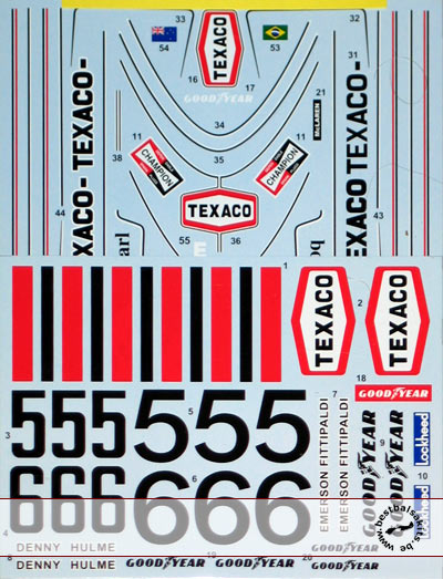TABU DESIGN 1/12 1974 FULL SPONSOR DECAL TAMIYA 1/12 McLAREN M23