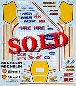 TABU DESIGN 1/12 FULL SPONSOR 1988 AOSHIMA 1/12 HONDA NSR250R SP