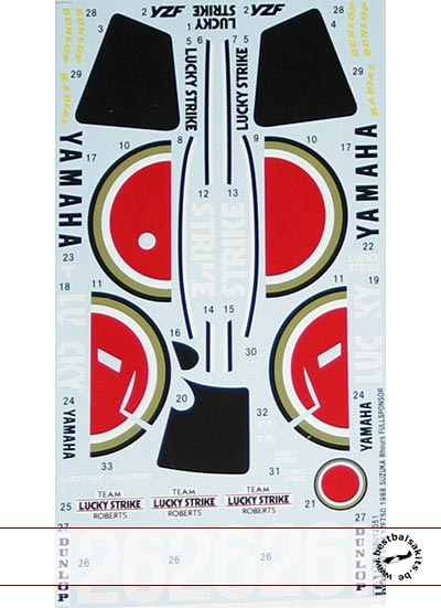 TABU DESIGN 1/12 YZF750 KENNEY ROBERTS SUZUKA 8Hrs 1988 TAMIYA 1/12