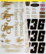 TABU DESIGN 1/12 1972 FILL IN SPONSOR DECAL TAMIYA 1/12 LOTUS 72D