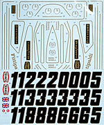 TABU DESIGN 1/12 1973 FULL SPONSOR DECAL for TAMIYA 1/12 LOTUS 72D