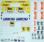 TABU DESIGN 1/12 FULL SPONSOR DECAL for TAMIYA 1/12 FERRARI 641/2