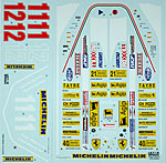 TABU DESIGN 1/12 Full Sponsor sheet for TAMIYA 1/12 FERRARI 312T4