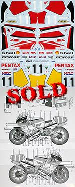 TABU DESIGN 1/12 HONDA NSR500 PENTAX #11 JAPAN & WGP Rd1 1989