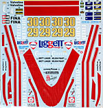 TABU DESIGN 1/20 1978 CHESTERFIELD DECAL TAMIYA 1/20 McLAREN M23