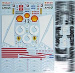 TABU DESIGN 1/20 FULL SPONSOR DECAL FUJIMI 1/20 FERRARI F2003-GA