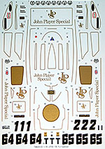 TABU DESIGN 1/20 FULL SPONSOR DECAL for EBBRO 1/20 LOTUS 72E