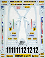TABU DESIGN 1/20 FERRARI 312T3 REPLACEMENT DECAL for TAMIYA 1/20