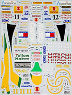 TABU DESIGN 1/20 LOTUS 107 1992 HERBERT HAKKINEN for TAMIYA