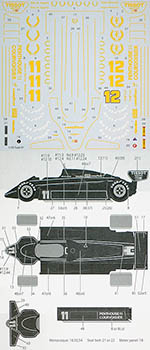 TABU DESIGN 1/20 LOTUS 91 FULL SPONSOR DECAL for EBBRO
