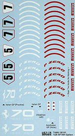 TABU DESIGN 1/20 FERRARI SF70 OPTION DECAL ITALY AZERBAIJAN