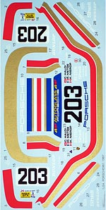 TABU DESIGN 1/24 FULL SPONSOR DECAL PORSCHE 961 LM 87 1/24 TAMIYA