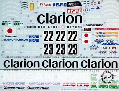 TABU DESIGN 1/24 NISSAN NISMO GT-R LE MANS '95 CLARION TAMIYA