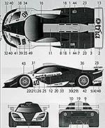 TABU DESIGN 1/24 McLAREN F1-GTR EMI #40 LE MANS 1998