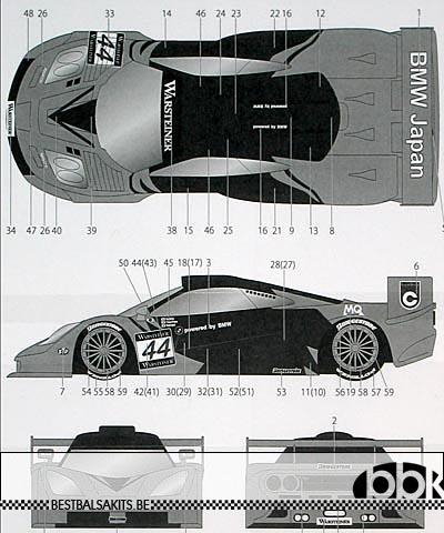 TABU DESIGN 1/24 McLAREN F1-GTR LARK #44 SUZUKA 1997