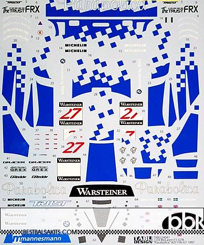 TABU DESIGN 1/24 McLAREN F1-GTR #6 #27 PARABOLICA FIA-GT 1997