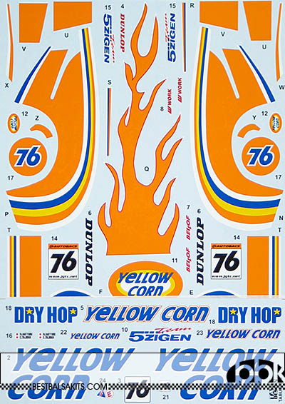 TABU DESIGN 1/24 FULL SPONSOR McLAREN F1-GTR YELLOW CORN #76 JGTC