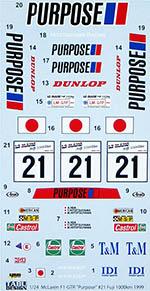 TABU DESIGN 1/24 FULL SPONSOR McLAREN F1-GTR PURPOSE  FUJI 1000km
