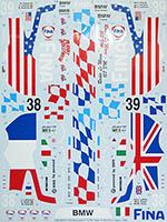 TABU DESIGN 1/24 FULL SPONSOR McLAREN F1-GTR FINA #38 #39 LE MANS