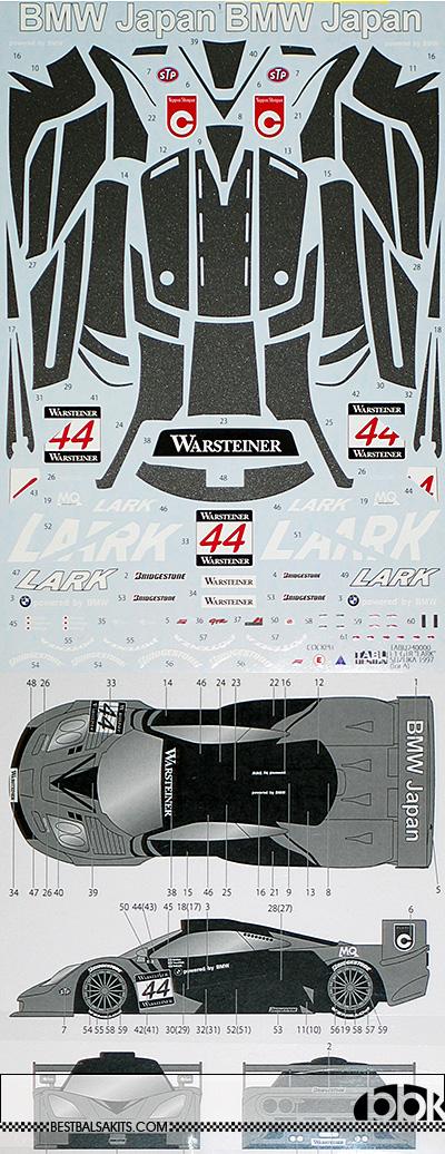 TABU DESIGN 1/24 McLAREN F1-GTR LARK #44 SUZUKA 1997 for AOSHIMA